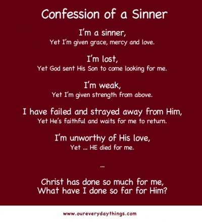 confession of a sinner