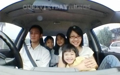 car ride family jakarta traffic jam