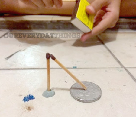 science experiment matchsticks
