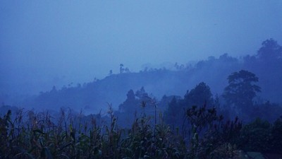 dieng dusk sunset blue